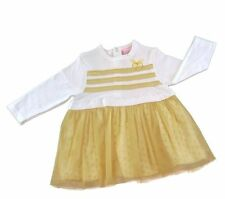 Baby girls party dress gold and ivory by Chloe Louise 3-6 months BNWT