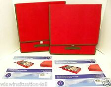 LOT OF 2 Holiday Christmas Tree Decoration Ornament Storage Organizer Case Box