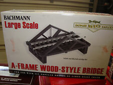 "Bachmann 96229 Large Scale Wooden ""A"" Frame Bridge Kit With Track NEW"