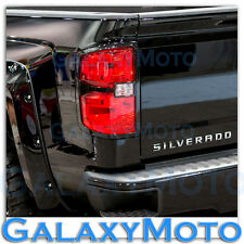 14-16 Chevy Silverado 1500 Extended+Crew Cab Gloss Black Taillight Trim Cover