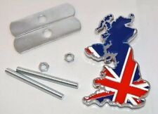 Chrome Metal Union Jack Flag Map Car Front Grill Badge Classic BMW Mini Austin!