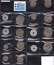 MONETE REGNO GRECIA Re Costantino II 8 Pz. Ottima conservazione KINGDOM GREECE
