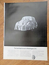 1969 VW Volkswagen Bug Ad the Best kept secret in Washington DC