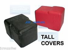 DURITE PAIR BATTERY TERMINAL RUBBER COVERS RED & BLACK TALL 110099 & 210099