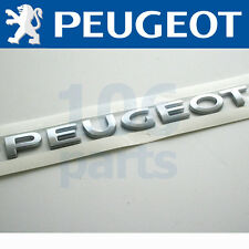 "PEUGEOT 308 REAR SILVER ""PEUGEOT"" BADGE 180x15mm NEW & GENUINE O.E PART!"