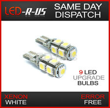 2x Super Bright Xenon White Sidelight 9 LED Bulbs Replacement 501 W5W T10 Canbus