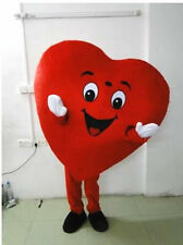 New Red Love Heart Mascot Costume Christmas Party Dress Adult Size Free Ship
