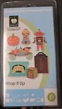 cricut cartridge wrap it up BNIB 50 boxes cards & tags with phrases & layers