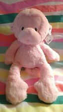 "Monkey pink GUND Baby G plush lovey stuffed animal toy   13"" meme lovey pastel"