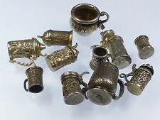 Vintage 925 Sterling Silver Charm JOB LOT CUPS TANKARDS ETC 54g a540