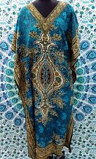 NEW Indian Kaftan~Free Size Casual Party Wear Dress~Beach Cover-Up Caftan Gown