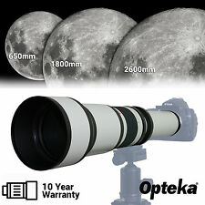 Opteka 650-2600mm Long Distance Super Telephoto Zoom Lens for Canon EOS Cam