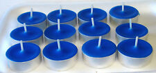 12 Pack of Royal Blue Unscented Soy   Tealight Candles