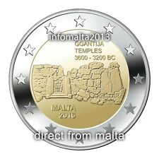 2016 Malta GGANTIJA Temple Uncirculated 2 Euro Commemorative Coin PreSale