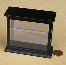1:12 Scale Black Finish Display Case Doll House Miniature Shop Furniture 1559