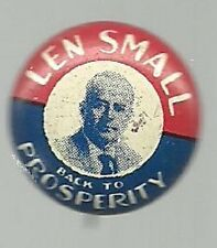 LEN SMALL FOR GOVERNOR VINTAGE ILLINOIS POLITICAL CAMPAIGN PIN