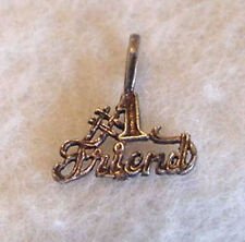 "STERLING SILVER ""# 1 Friend"" PENDANT / CHARM"