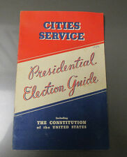 1936 Cities Service PRESIDENTIAL ELECTION GUIDE VG+ 30 pgs Roosevelt Koolmotor