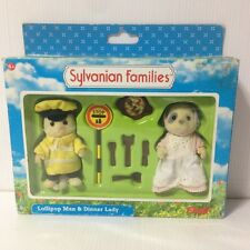 Sylvanian Families Lollipop Man Dinner Lady new in packaging epoch 1999 flair