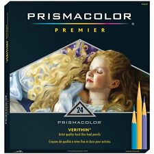 Prismacolor Verithin Colored Pencils,  Set of 24 Assorted Colors  (2427), New