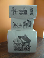 Dept 56 Peppermint Porch Day Care Preschool Nanny Baby Dog Christmas Village Lot