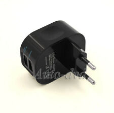 Home Euro Plug 2 Ports USB 2.0 AC Power Adapter USB Travel Charger for iPhone