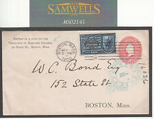 MS2145 1900 USA UNIVERSITY STATIONERY *Harvard College* Special Delivery Cover