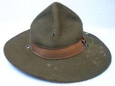 AUTHENTIQUE CHAPEAU EN FEUTRE US WW1 / CAMPAIGN HAT M.1911 / 100% ETAT GRENIER