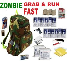 2 Person Zombie Grab&Run 3 Day Emergency Survival Kit Bug Out Bag Camping Hiking