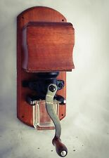 Coffee grinder WOODEN Wall Mounted Mill Moulin a cafe Kaffeemuehle