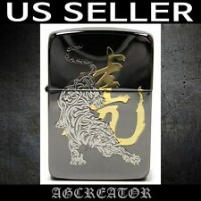 New Japan Korea zippo lighter 1941 tiger 2 on black ice engraved US SELLER