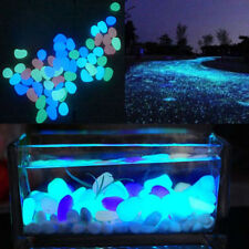 5Pcs Glow In The Dark Fluorescent Pebbles Stone Aquarium Fish Tank Walkway Decor