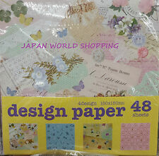 Origami Japanese CHIC Chiyogami Paper 4 Designs 12 each 48 Sheets