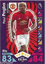 2016 / 2017 EPL Match Attax Base Card (191) Paul POGBA Manchester United