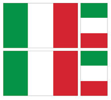 4 X ITALIAN ITALY FLAG VINYL CAR VAN IPAD LAPTOP STICKER