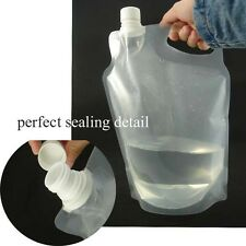 2 LITRE FOLDABLE SOFT BOTTLE SCREW TOP  WATER BAG 2 PIECES LIKE PLATYPUS  PLATY