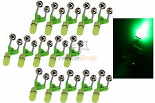 15x LED Night Fishing Bite Bait Alarm Twin 2 Bells Light Rod Tip Clip Alert Ring