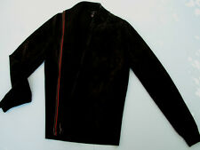 GUCCI TIMELESS CLASSIC BLACK SUEDE AND WOOL  XL JACKET