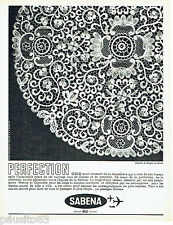 PUBLICITE ADVERTISING 076  1962  Sabena compagnie aérienne dentelle de Bruges