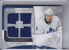 2009-10 UPPER DECK THE CUP #CF-LS LUKE SCHENN JERSEY TORONTO MAPLE LEAFS 16/25
