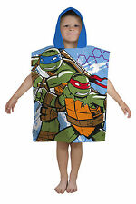 NEW TEENAGE MUTANT NINJA TURTLES HOODED PONCHO KIDS BOYS BEACH HOLIDAY TOWEL