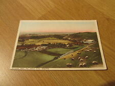 Old Vintage Colour Postcard Poynings from The Devil's Dyke Brighton Sussex 1938