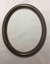 """NEW Oval  Dark Tone Wood Picture Frame Only 7 3/4"""" X 9 3/4"""" view 7 1/4 x 9"""