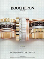 Publicité Advertising 2012 BOUCHERON collection bagues