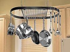 Kitchen Storage Hanging Pot Holder Pan Hanger Utility Cookware Hook Rack Iron