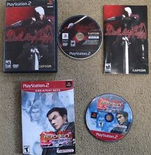 Devil May Cry PS2, mint, complete, tested plus Tekken Tag Tournament 2 game lot