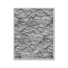 Hero Arts WAVES BACKGROUND  cling rubber stamp CG660