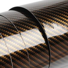 4D Carbon Fiber Bubble/Air-Free Glossy Vinyl Film Wrap Sheet Sticker DIY
