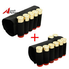 Tactical 5 Round + 8 Round Shotgun Shell Holder Ammo Carrier Black for 12/20G