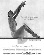 Van Raalte Slip CHANTILLY BODIES Sexy Lace Lavished Lingerie 1954 Print Ad
